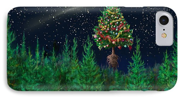 The Egregious Christmas Tree Classic Landscape Phone Case by Russell Kightley