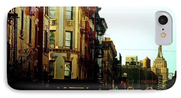 The Empire State Building And Little Italy - New York City IPhone Case