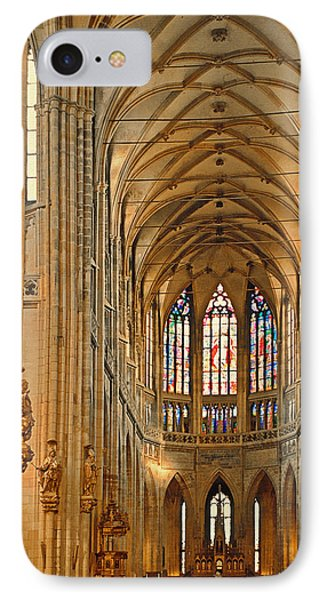 The Enormous Interior Of St. Vitus Cathedral Prague Phone Case by Christine Till