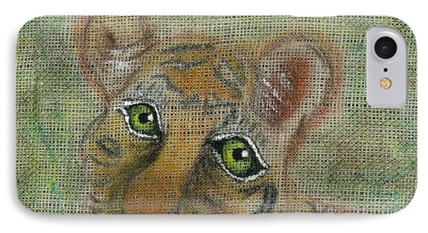 IPhone Case featuring the mixed media The Eyes Have It by Joy Braverman