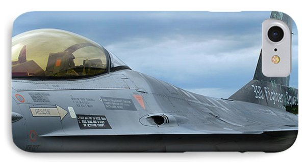The F-16 Aircraft Of The Belgian Army Phone Case by Luc De Jaeger