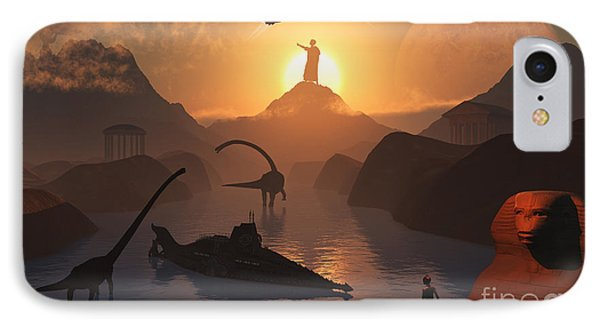 The Fabled City Of Atlantis Set Phone Case by Mark Stevenson