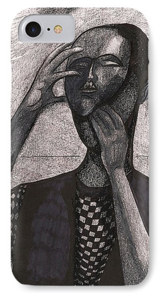 The Face Behind The Mask IPhone Case by Al Goldfarb