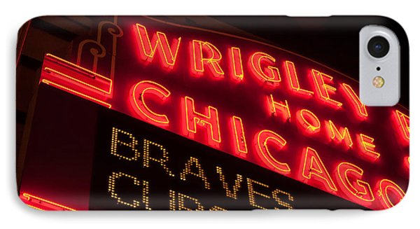 The Famous Wrigley Field Sign IPhone Case by Anthony Doudt