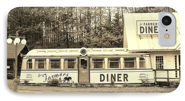 IPhone Case featuring the photograph The Farmers Diner In Sepia by Sherman Perry