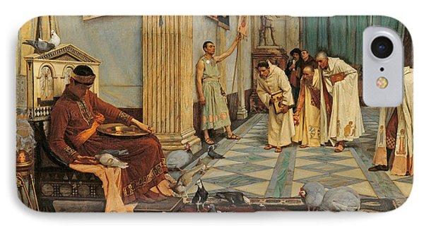 The Favourites Of Emperor Honorius IPhone Case by John William Waterhouse