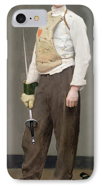 The Fencing Master Phone Case by Julius Gari Melchers