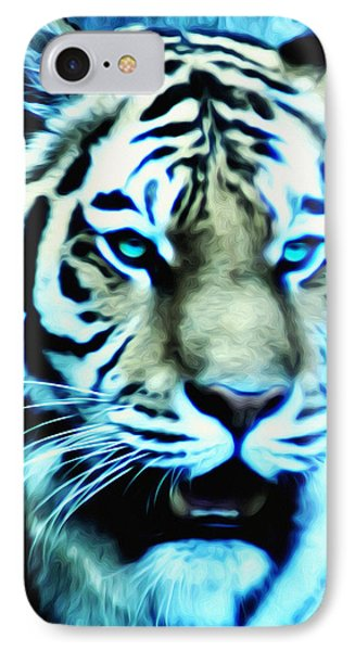 The Fierce Tiger IPhone Case by Bill Cannon