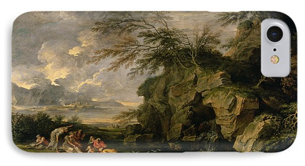 The Finding Of Moses Phone Case by Salvator Rosa