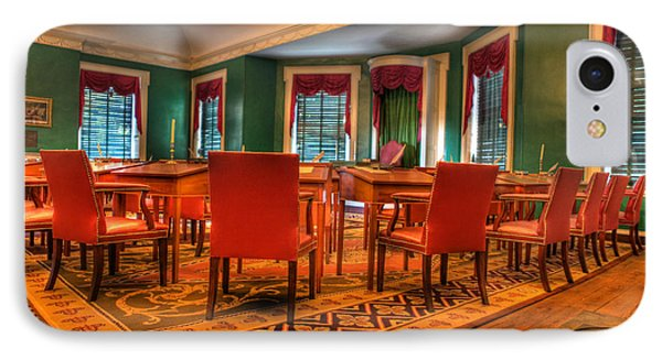The First American Congress Senate Chamber - Independence Hall - Congress Hall -  Phone Case by Lee Dos Santos