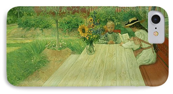 The First Lesson Phone Case by Carl Larsson