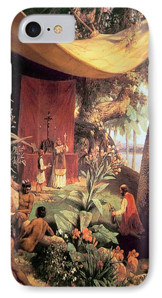 The First Mass Held In The Americas Phone Case by Pharamond Blanchard