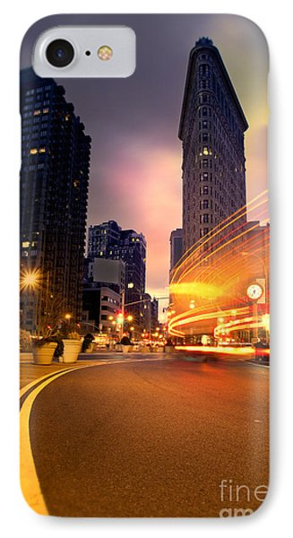The Flat Iron Building With Some Magic Happening Phone Case by John Farnan