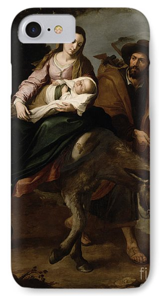The Flight Into Egypt IPhone Case by Bartolome Esteban Murillo