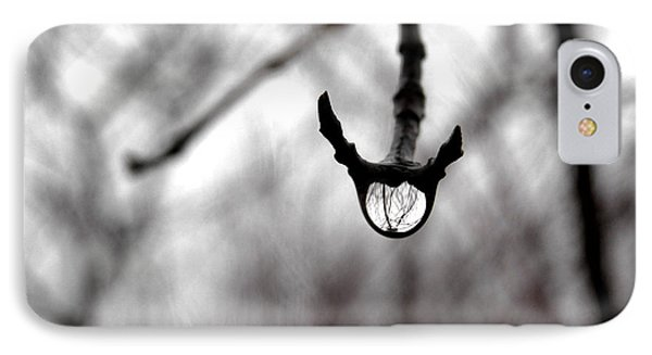 The Foretelling - Raindrop Reflection IPhone Case by Angie Rea