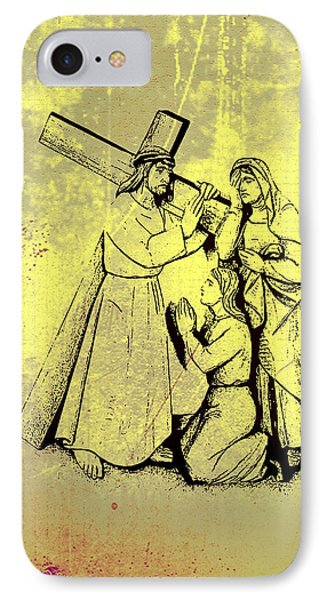 The Fourth Station Of The Cross - Jesus Meets His Mother Phone Case by Bill Cannon
