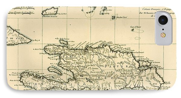 The French And Spanish Colony Of The Island Of St Dominic Of The Greater Antilles Phone Case by Guillaume Raynal