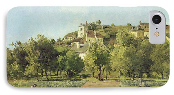 The Gardens Of The Hermitage IPhone Case by Camille Pissarro