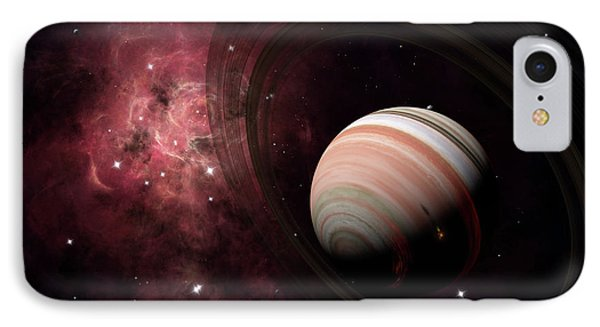 The Gas Giant Carter Orbited By Its Two Phone Case by Brian Christensen