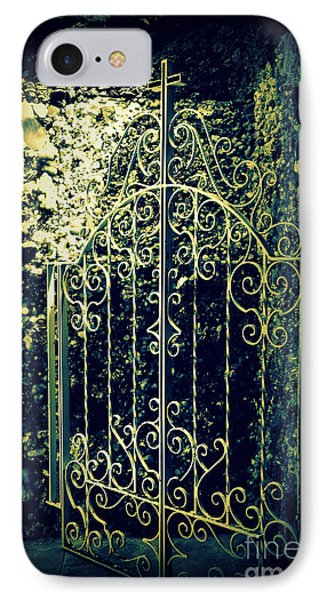 The Gate In The Grotto Of The Redemption Iowa Phone Case by Susanne Van Hulst