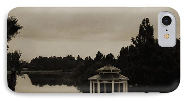 IPhone Case featuring the photograph The Gazebo At The Lake by DigiArt Diaries by Vicky B Fuller