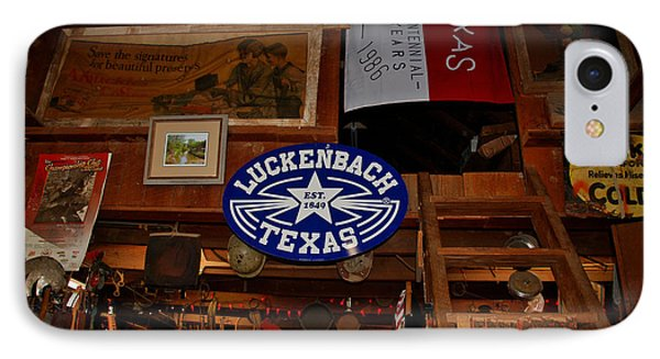 The General Store In Luckenbach Tx Phone Case by Susanne Van Hulst