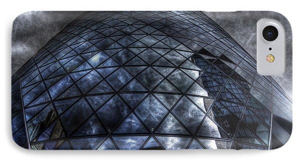 The Gherkin - Neckbreaker View Phone Case by Yhun Suarez