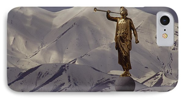The Gilded Statue Of The Angel Moroni Phone Case by James P. Blair