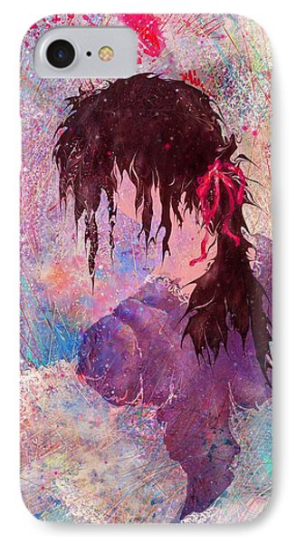 The Girl Of Many Colors Phone Case by Rachel Christine Nowicki