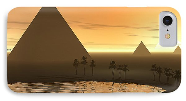 IPhone Case featuring the digital art The Giza Necropolis by Phil Perkins