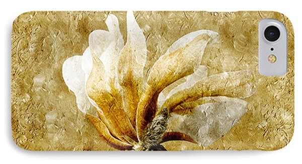 The Golden Magnolia Phone Case by Andee Design