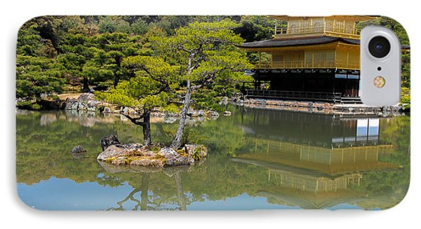 The Golden Pavilion IPhone Case by Jonah  Anderson