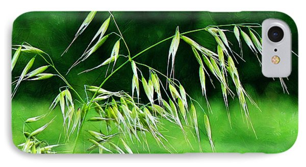 IPhone Case featuring the photograph The Grass Seeds by Steve Taylor