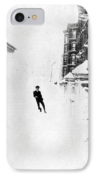 The Great Blizzard, Nyc, 1888 Phone Case by Science Source
