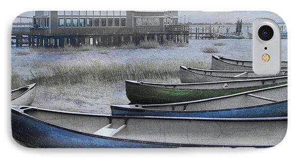 The Green Canoe Phone Case by Debra and Dave Vanderlaan