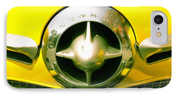 The Grill Of A Yellow Studebaker Car Phone Case by David DuChemin