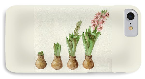 The Growth Of A Hyacinth IPhone Case by Annemeet Hasidi- van der Leij