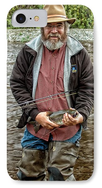 The Happy Fisherman IPhone Case