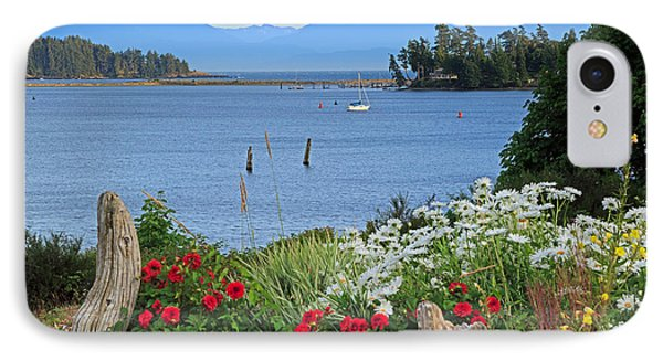 The Harbor At Sooke Phone Case by Louise Heusinkveld