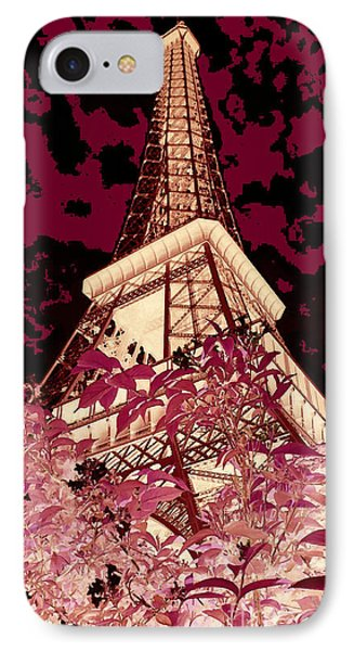The Heart Of Paris - Digital Painting Phone Case by Carol Groenen
