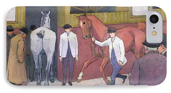 The Horse Mart  IPhone Case by Robert Polhill Bevan