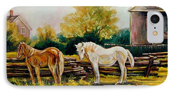 The Horse Ranch Eastern Townships Quebec Phone Case by Carole Spandau