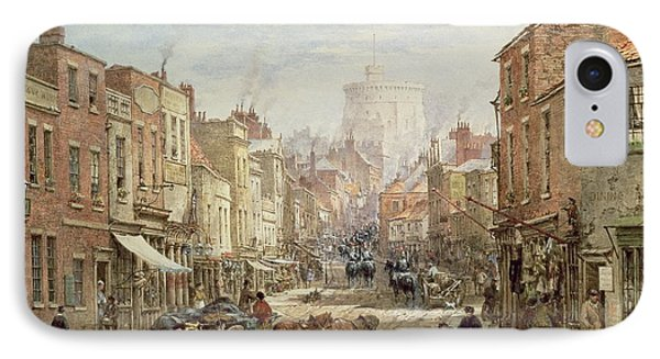 The Household Cavalry In Peascod Street Windsor IPhone Case by Louise J Rayner