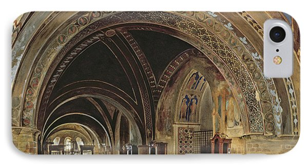 The Interior Of The Lower Basilica Of St. Francis Of Assisi IPhone Case by Thomas Hartley Cromek