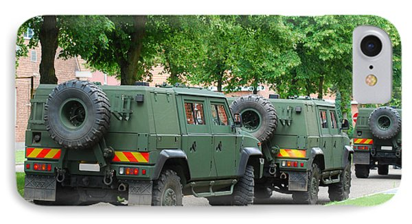 The Iveco Lmv Of The Belgian Army Phone Case by Luc De Jaeger