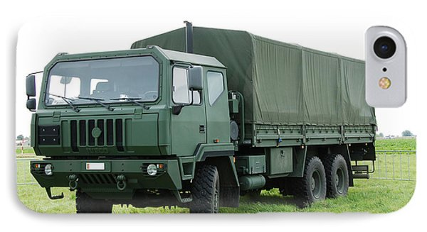 The Iveco M250 Used By The Belgian Army Phone Case by Luc De Jaeger