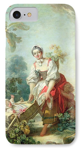 The Joys Of Motherhood Phone Case by Jean-Honore Fragonard