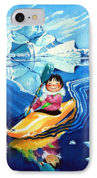 The Kayak Racer 13 Phone Case by Hanne Lore Koehler