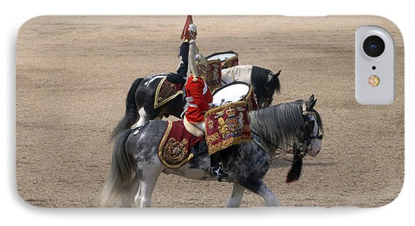 The Kettledrums Of Household Cavalry Phone Case by Andrew Chittock
