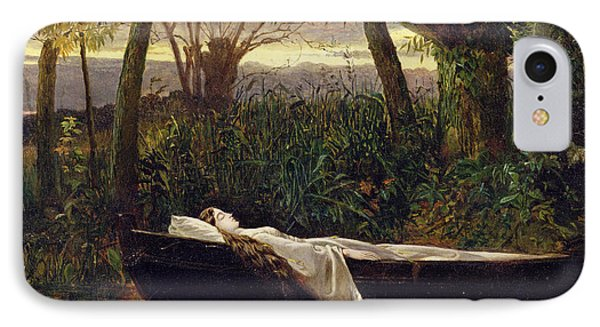 The Lady Of Shalott Phone Case by Walter Crane